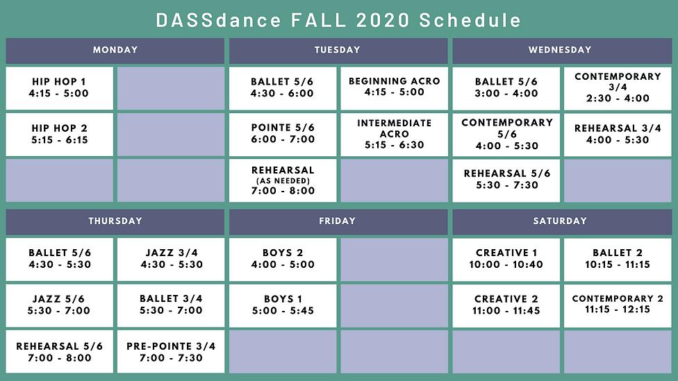 Fall 2020 DASSdance Studio Schedule.png