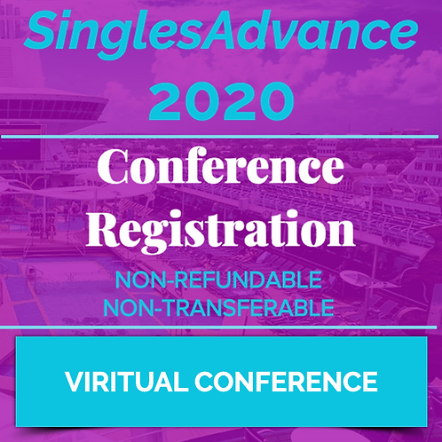VIRTUAL - Singles Advance 2020 - Individual Registration - NON-REFUNDABLE