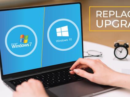 Microsoft Windows 7 Upgrade vs. Replacement Checklist