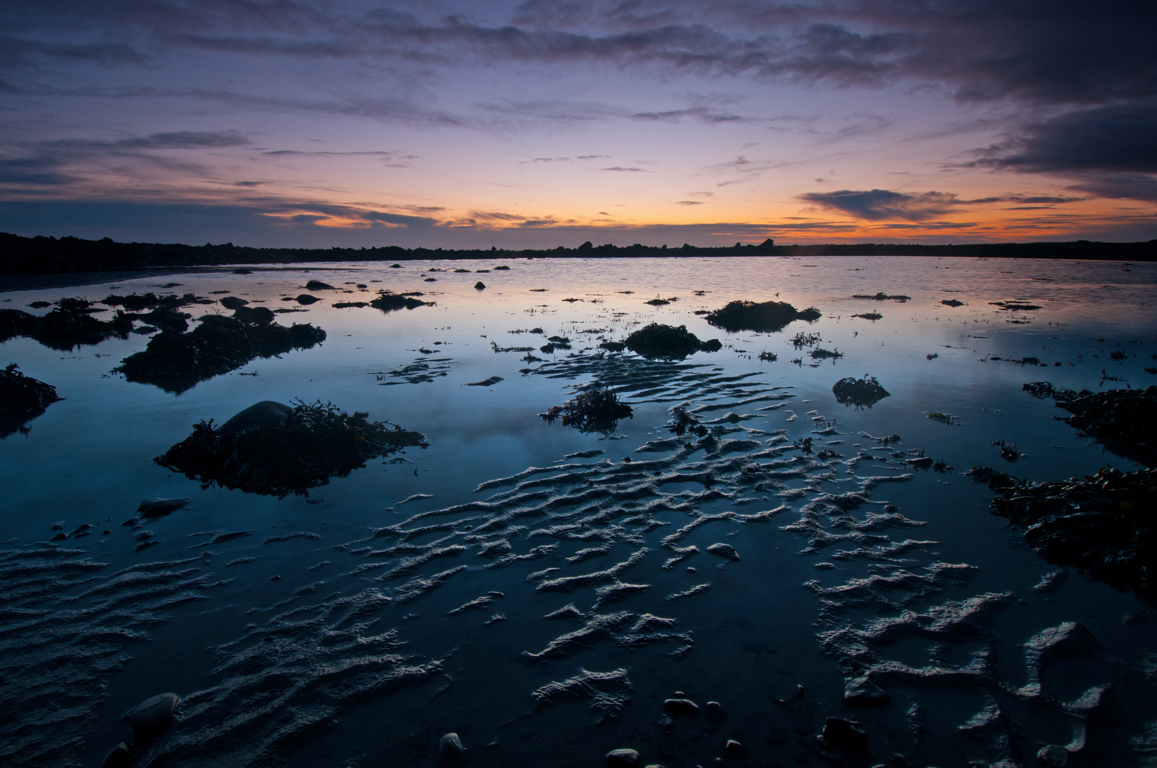 Dawn Reflections at Low Tide