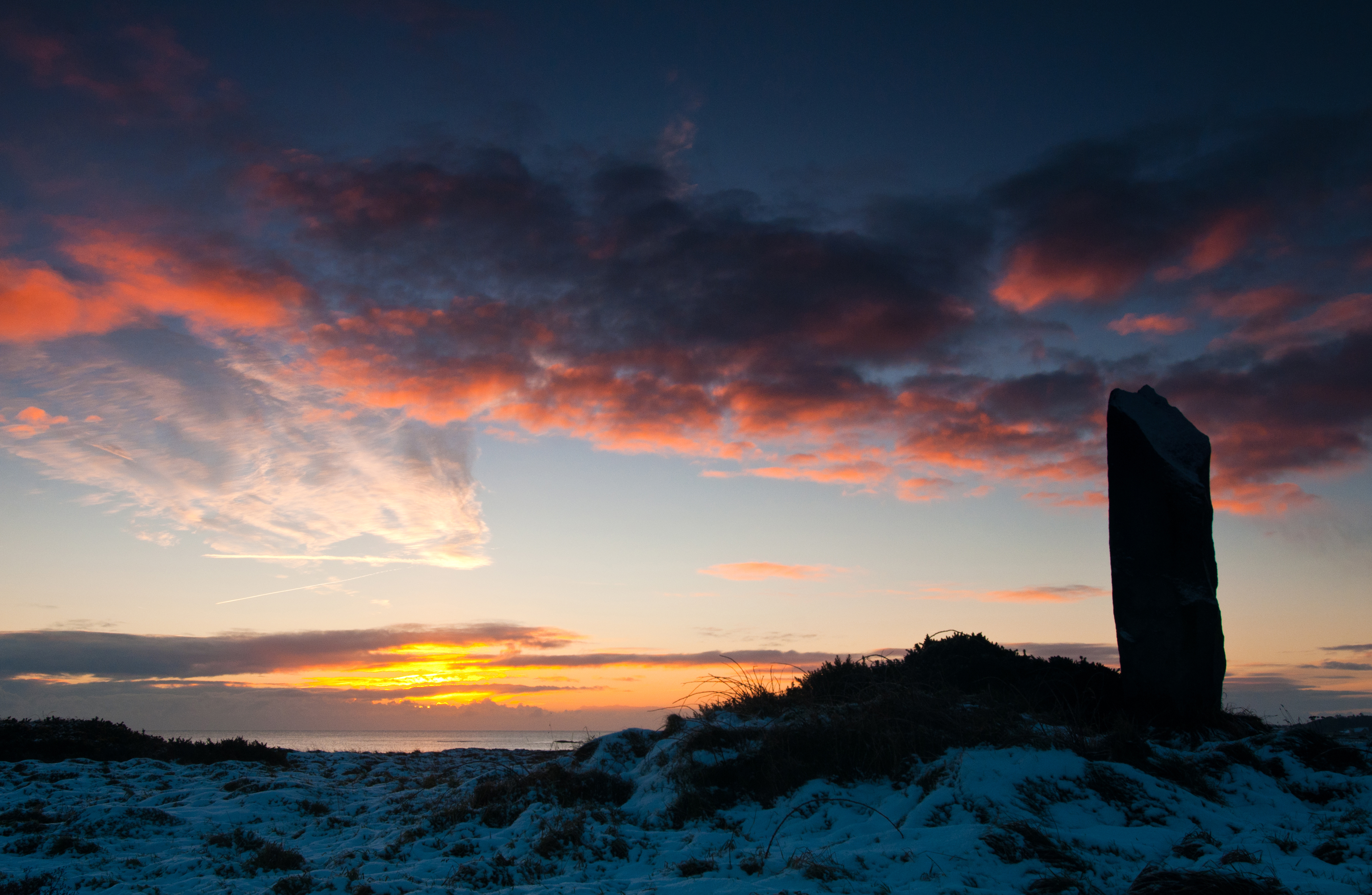 Granite Obelisk at Sunrise