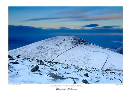 hillerscapes,prints,mournes,craig,hiller,christmas,gifts,ireland,travel,Co Down,Slieve,Meelmore,winter,dusk