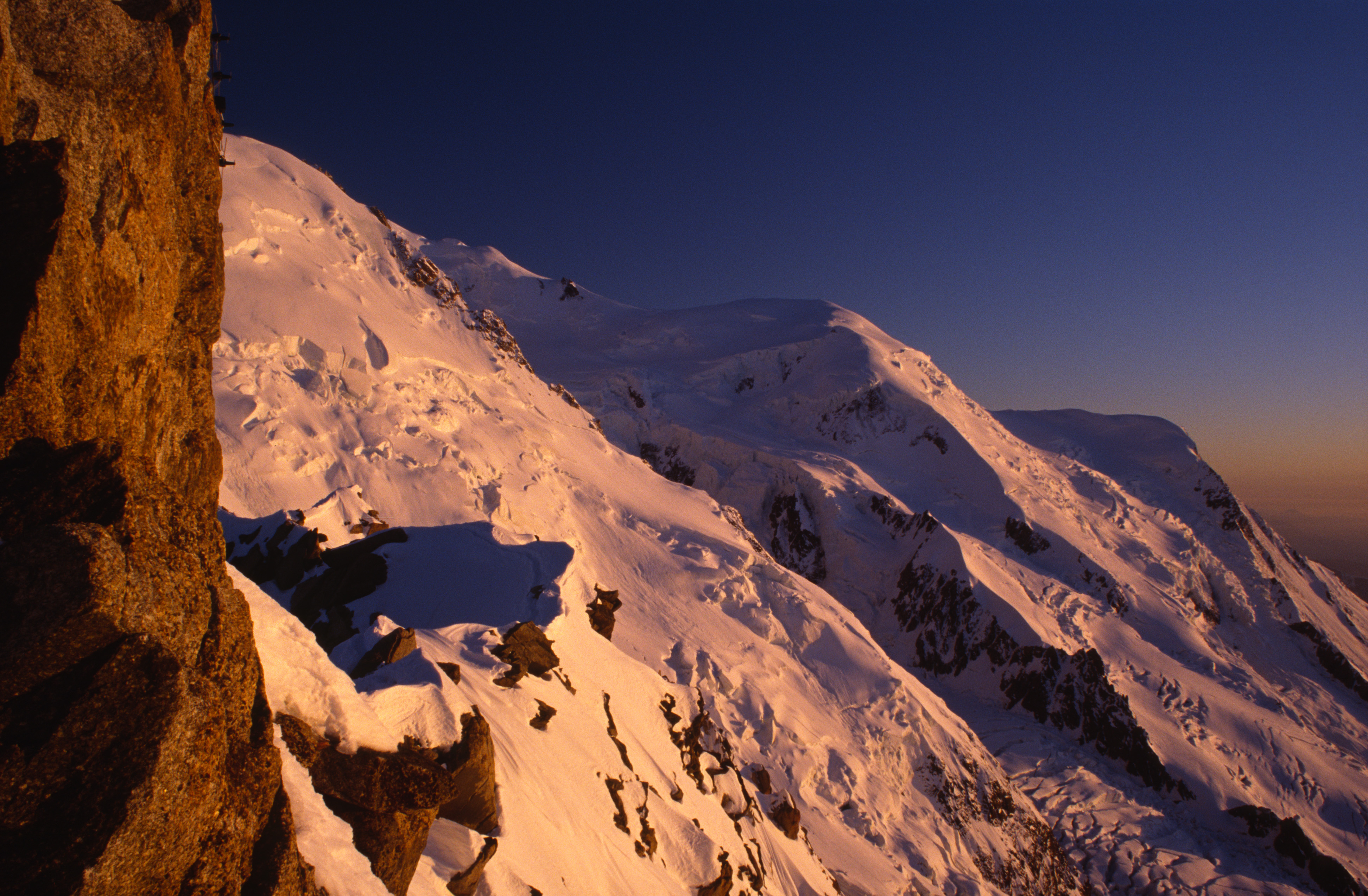 West Face of Mont Blanc at Sunset