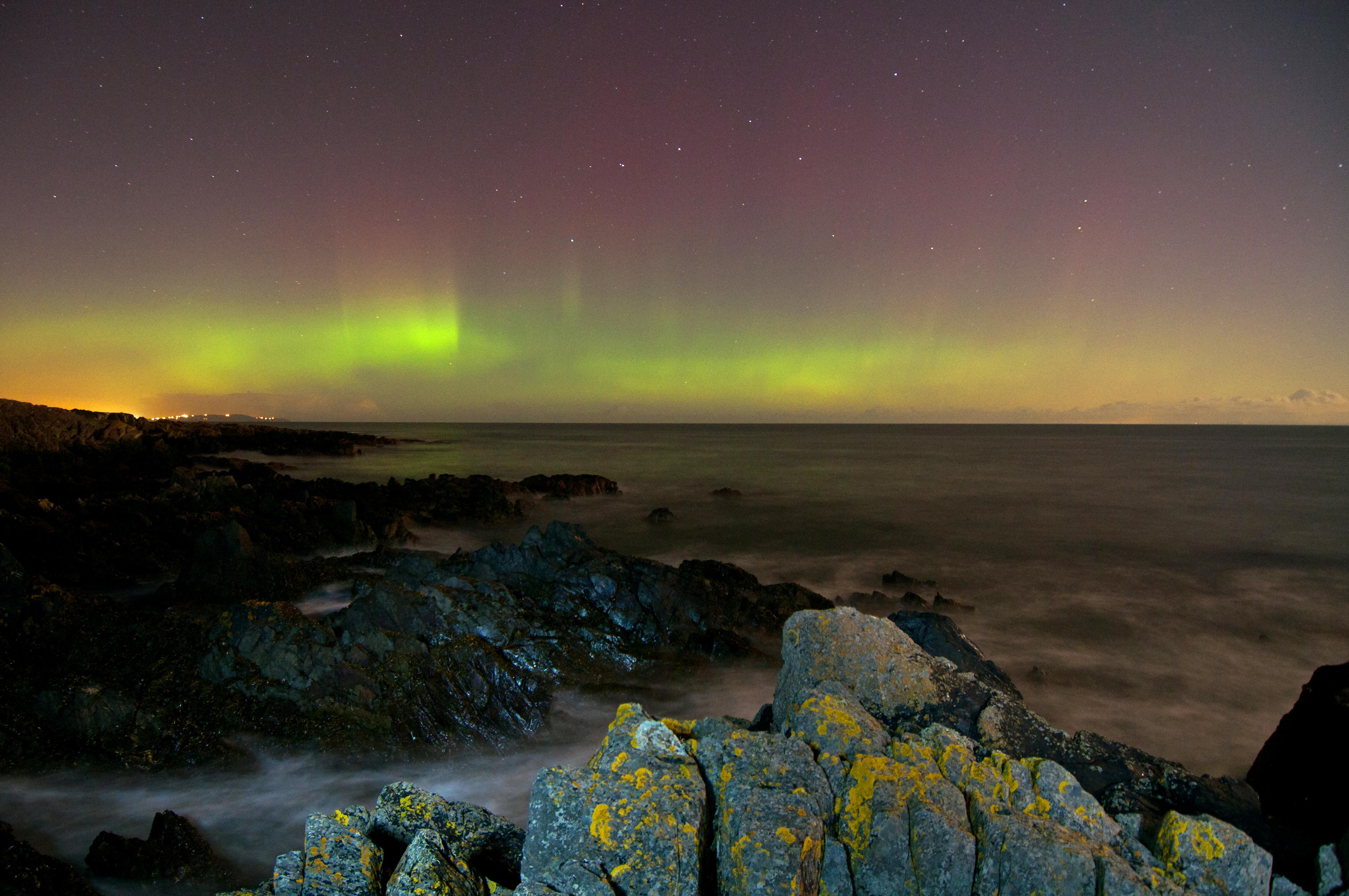 Aurora Borealis at Orlock Point