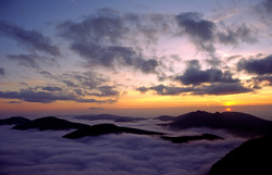 Sunset Cloud Inversion from the Summit of Donard