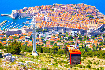 Panoramic view of Old town of Dubrovnik