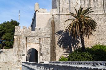 Ploče gate in Dubrovnik - one of the tw