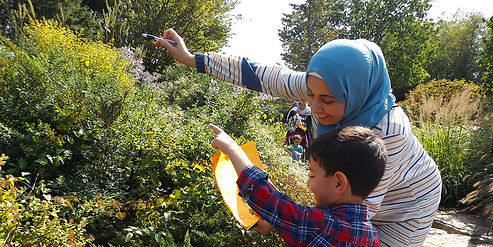 REACH family learning about nature together