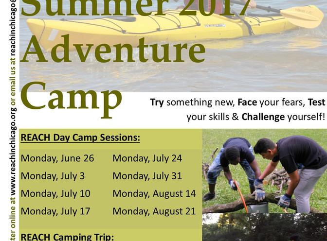 Summer 2017 Adventure Camp Registration Open!