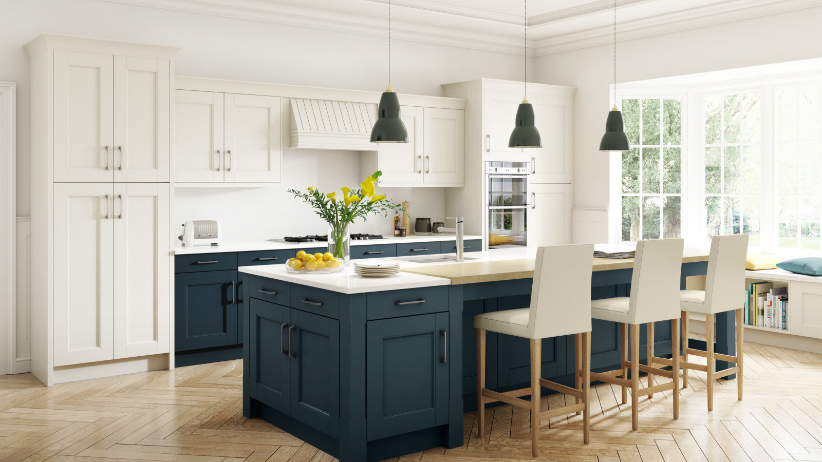 Stately-Shaker-Painted-Ivory-Oxford-Blue