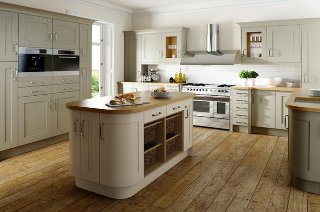 Sage Grey & Oyster Painted Wood Shaker.j