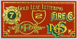 Genuine Gold Leaf Lettering
