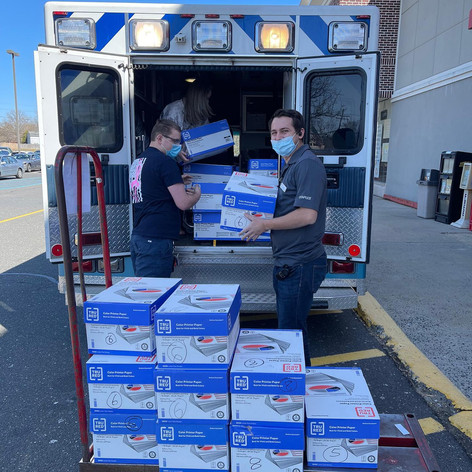 Freehold Staples Donates to Freehold EMS