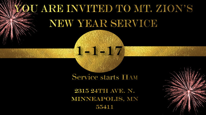 Happy New Year 2017 from Mt. Zion