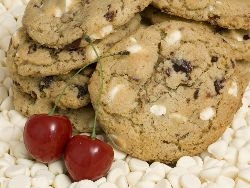 White Chocolate Cherry Cookie