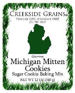 Michigan Mitten Sugar Cookie