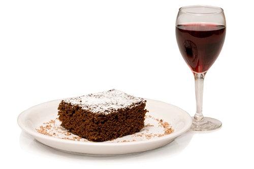 Dark Chocolate Cabernet Cake