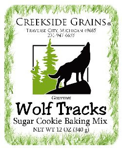Wolf Tracks Sugar Cookie