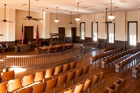 Tallahatchie County Courthouse courtroom where the 1955 trial of Emmett Till's murderers Roy Bryant and JW Milam took place.