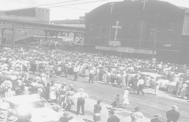 Roberts Temple Church of God in Christ during Emmett Till's funeral