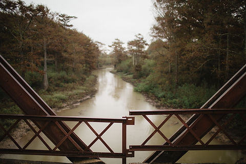 Image of the Tallahatchie River from the Black Bayou Bridge where Emmett Till's body may have been dropped into the river.