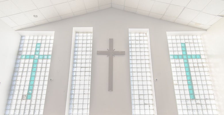 Interior windows of Roberts Temple Church of God in Christ