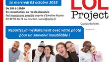 LOL Project ce mercredi 3 octobre à l'Hôpital Lariboisière