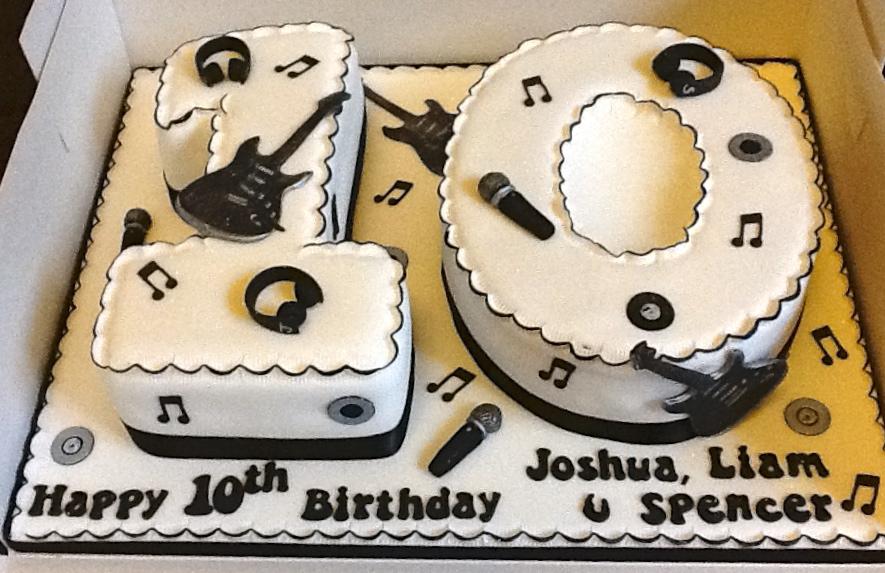 Music Themed 10th Birthday