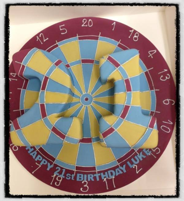 Number 21 Dart Board
