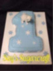 number 1 polar bear cake.jpg