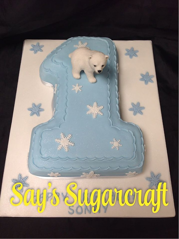 number 1 polar bear cake.jpg