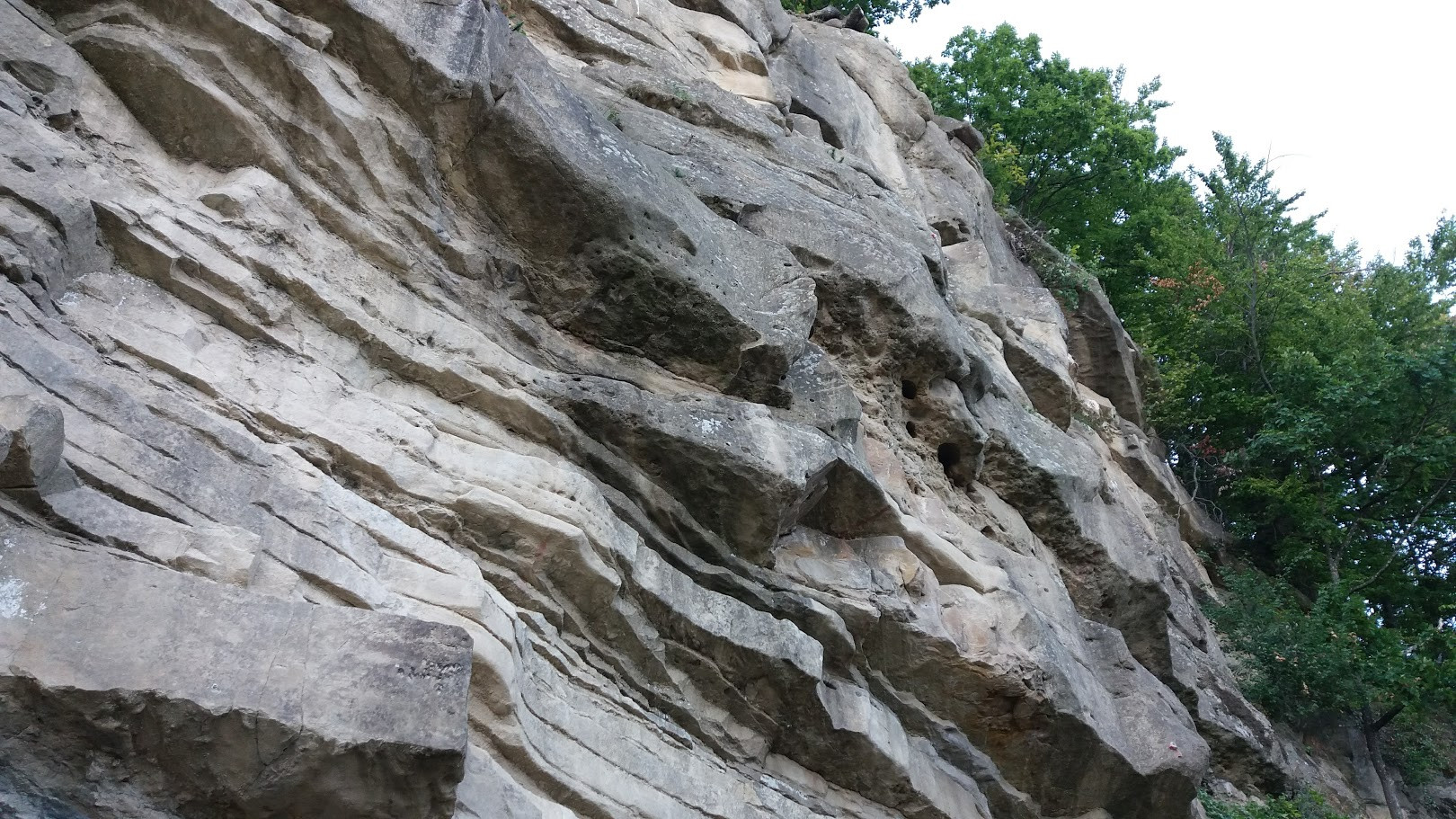 part of the climbing wall