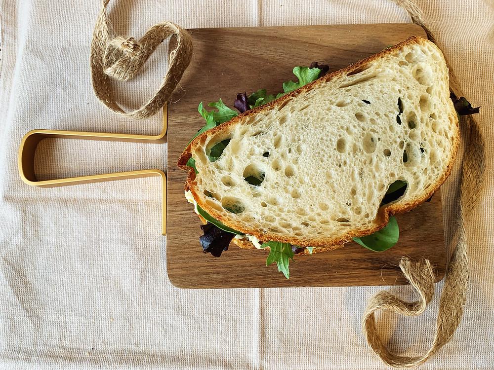 vegan chickpea tuna salad sandwich