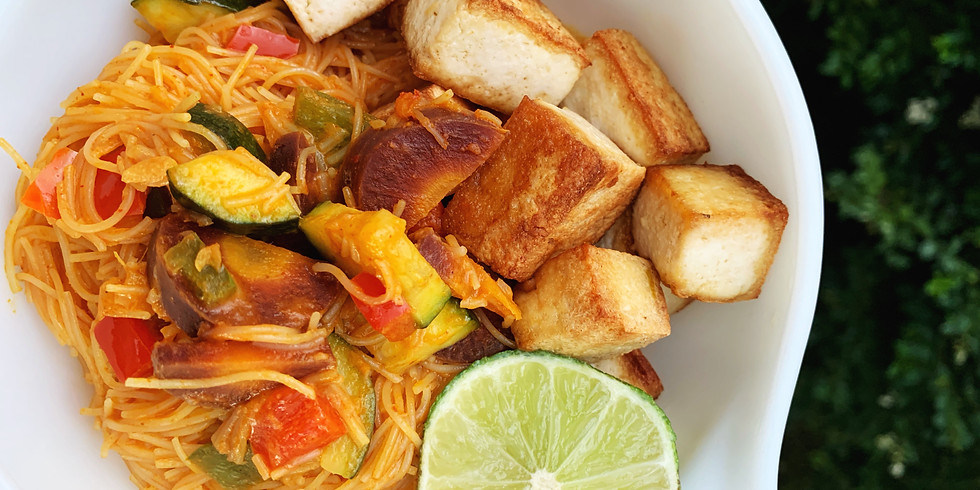 Vegan Cooking Class - Cool Thai Coconut Curry Noodle Bowl
