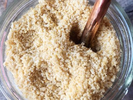 Easy 4 Ingredient Vegan Parmesan Cheese