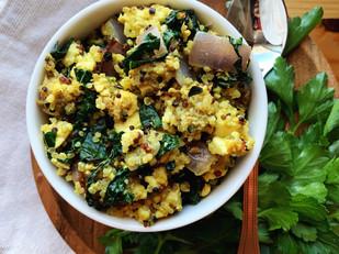 Vegan Tofu Sausage Breakfast Bowl