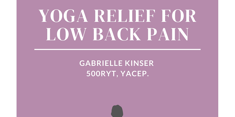Yoga Relief for Low Back Pain