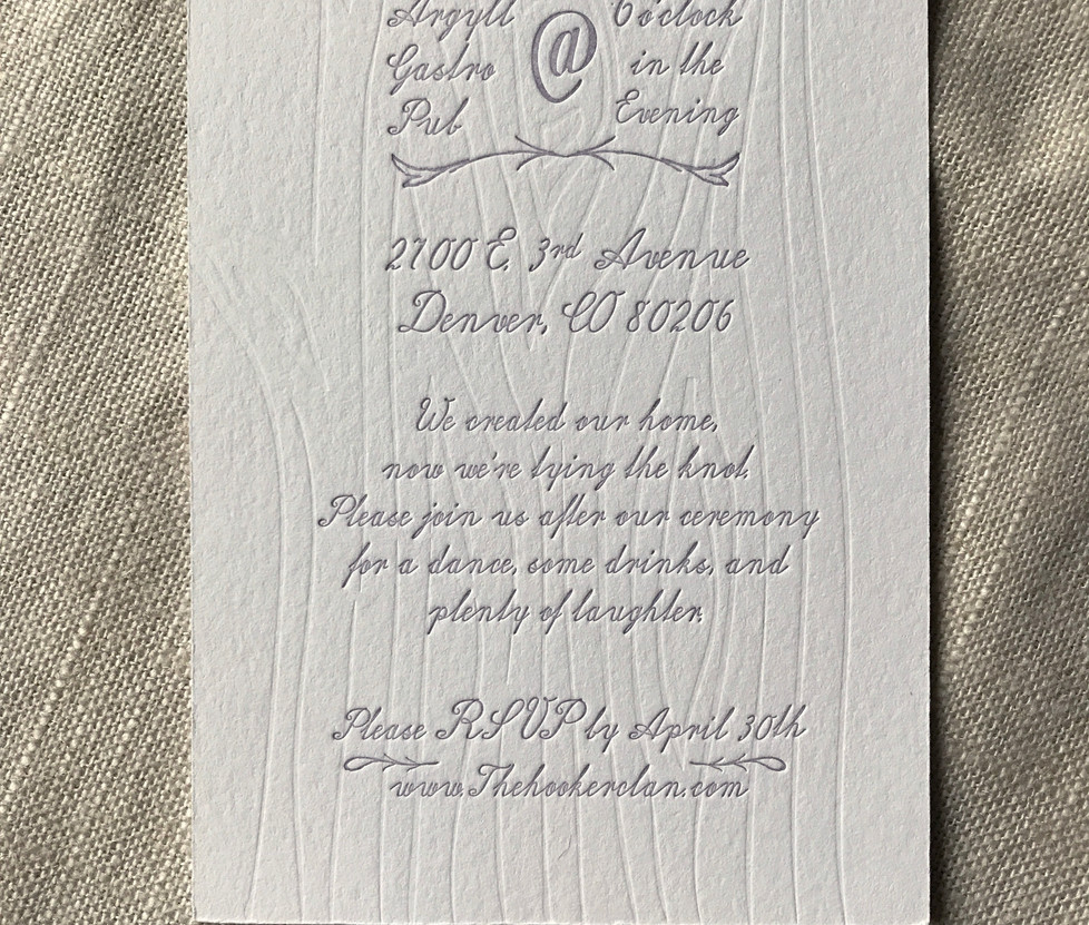 Whimsical Tree Wedding Invitation