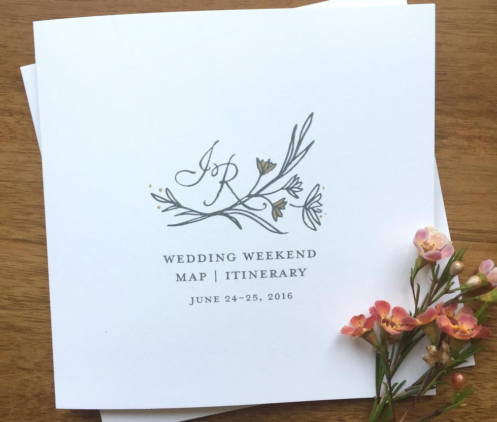 Napa Wildflower Wedding Welcome Book
