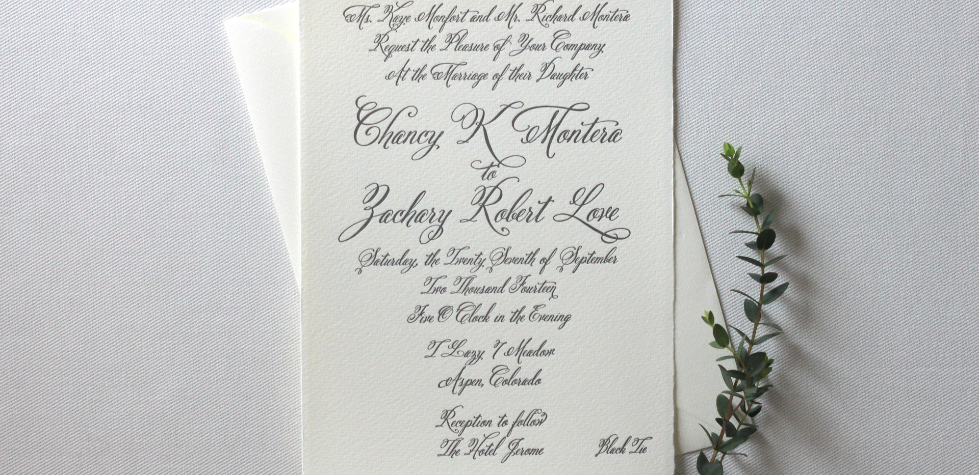 Aspen Love Wedding Invitation Card