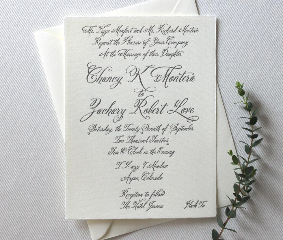 Aspen Love Wedding Invitation Card