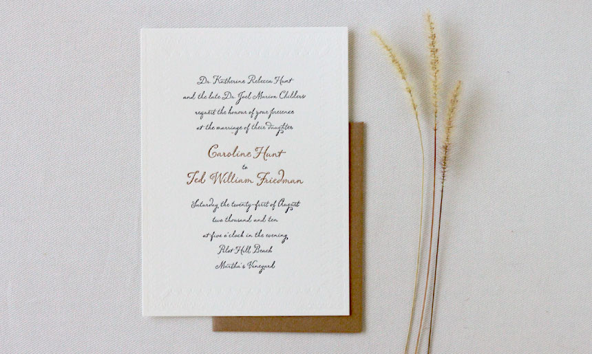 Martha's Vineyard Wedding Invitation
