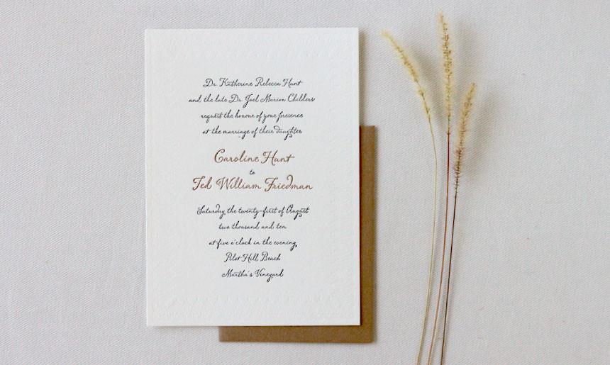 Martha's Vineyard Wedding Invitation