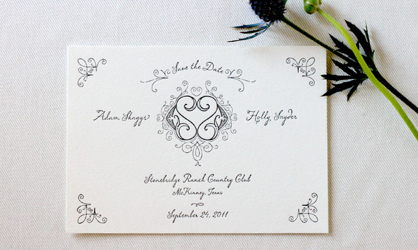 Wrought Iron Wedding Save the Date