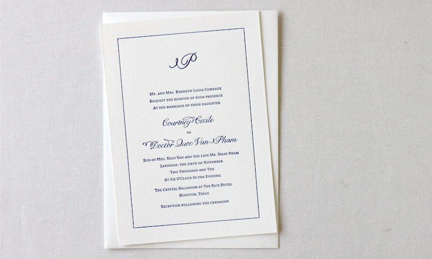 Classic Wedding Collection Invitation