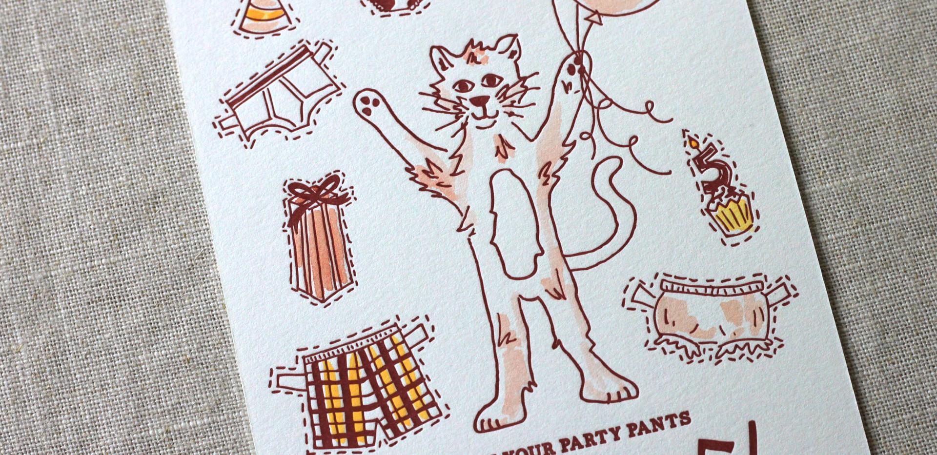 Party Pants Birthday Invitation