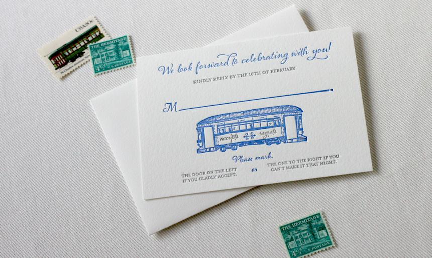 Streetcar Wedding RSVP