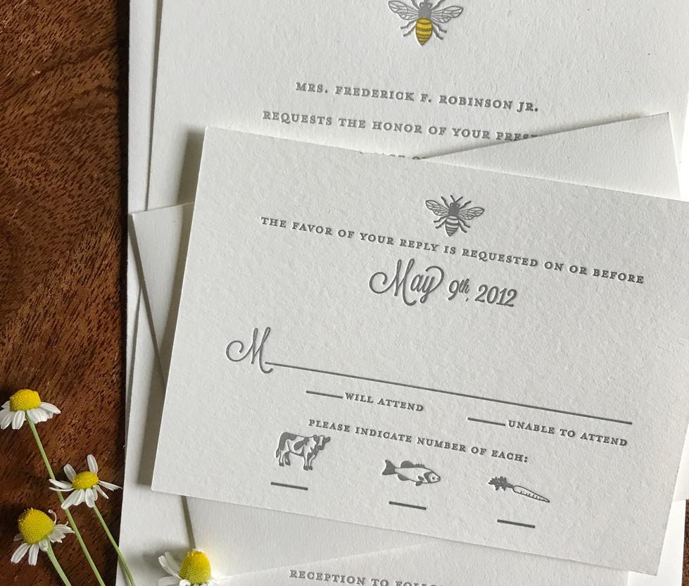 Bumble Bee Wedding RSVP
