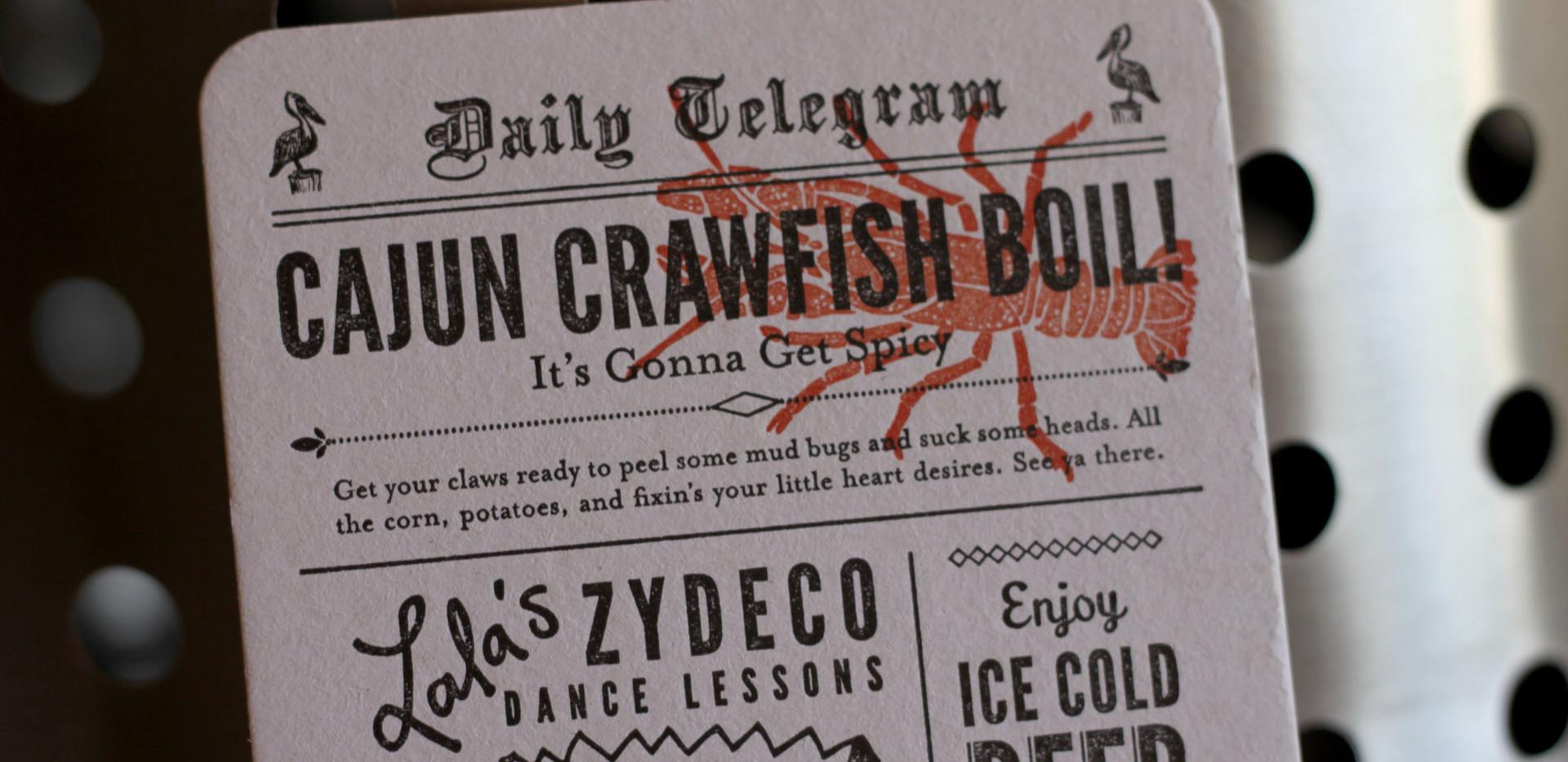 Crawfish Boil Party Invitation Postcard