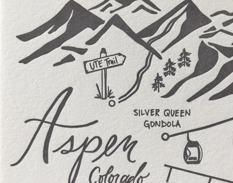 Aspen Mountain Top Wedding Maps